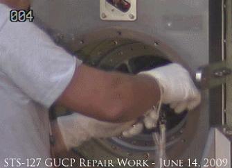 STS-127 Repair Work