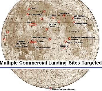 Landing Site Map, via http://evadot.com/glxplandingsites/