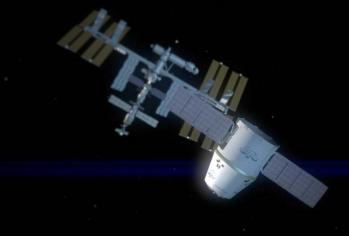 CGI of Dragon approaching ISS
