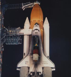 TDRS on Challenger - via L2