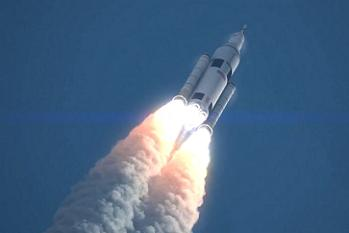 SLS Launching to X Destination on X Date