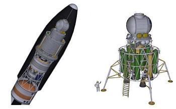 SLS with Mars Lander
