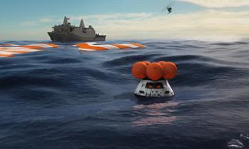 Orion after splashdown