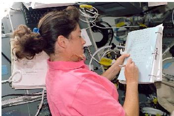 Clark on STS-107
