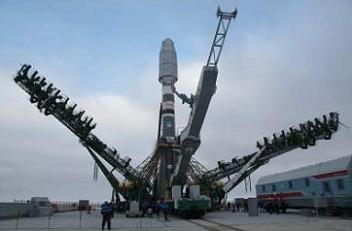 Soyuz 2-1A on the pad