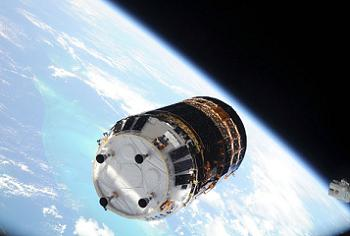 HTV arriving at the ISS