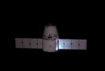 Dragon Flying on orbit, via L2