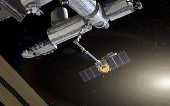 Cygnus Berthing at the ISS