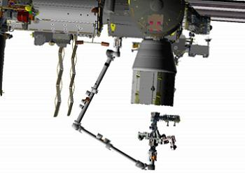 Dextre approaching Dragon Trunk, via L2