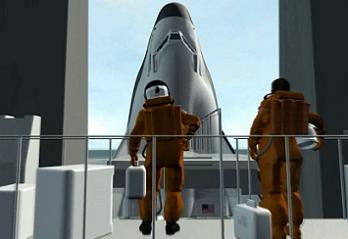 Crew boarding Dream Chaser