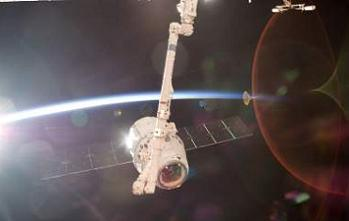 Dragon at the ISS, via L2