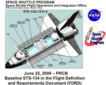 Title Page for the STS-134 FDRD Presentation, via L2