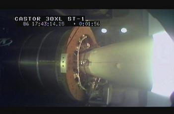 Screenshot from L2 video of CASTOR 30XL static fire