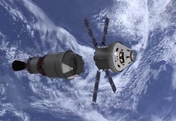 Orion with ATV SM