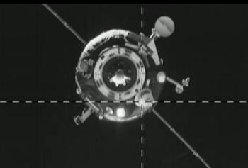 Progress M-19M as it approached the ISS