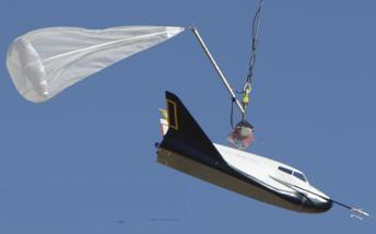 Dream Chaser in captive flight