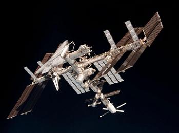 Endeavour with the ISS two years ago