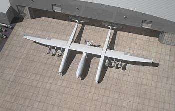Stratolaunch Departing Hanger, via L2