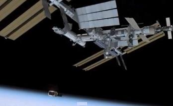 Cygnus arriving at ISS