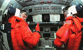 Sturckow (right) on STS-88