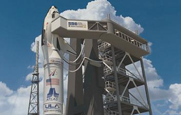 Atlas V and Dream Chaser on the pad