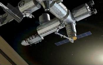 Cygnus berthing with ISS