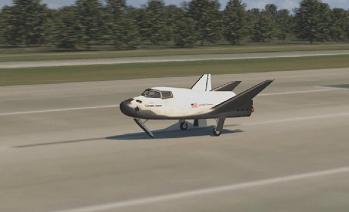 Dream Chaser landing at the SLF