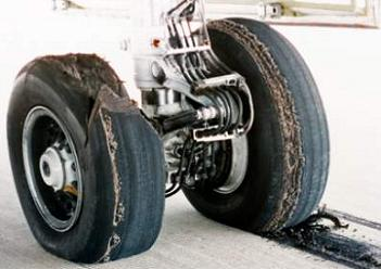 Discovery's blown tire