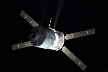 ATV-4 arrives for docking with the ISS