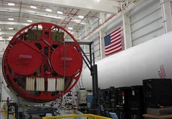 Antares Stages in processing at Wallops, via L2