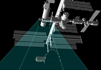 Cygnus arriving at the ISS via Mission Sim, via L2