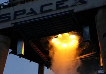 Falcon v1.1 first stage test firing
