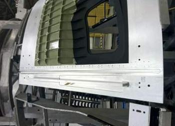 First weld on EFT-1 Orion