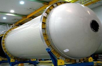 EFT-1 Delta IV-H in production