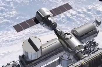 Crewed Dragon arriving at ISS