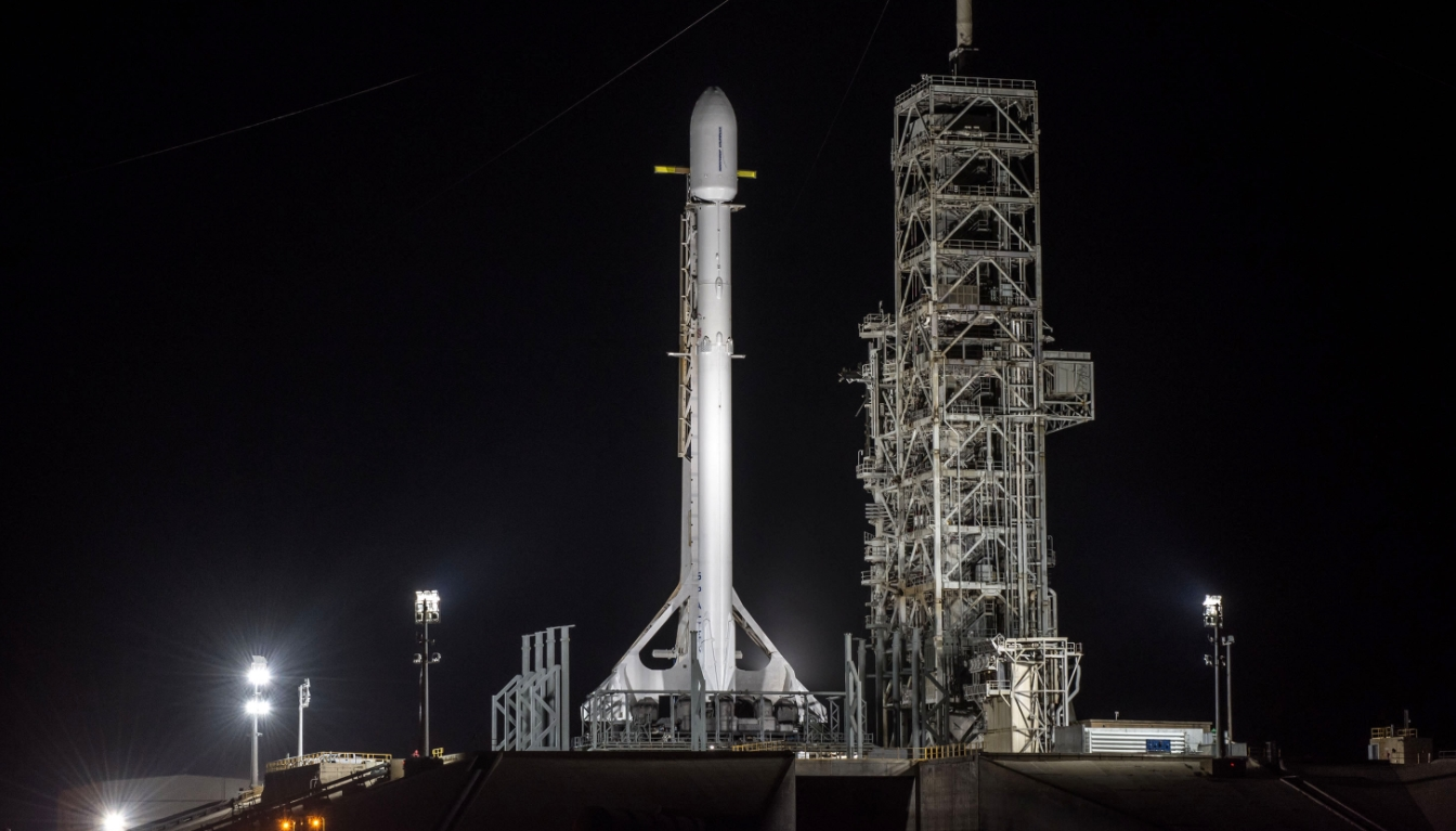 spacex has conducted the important static fire of the falcon 9 rocket that will be tasked with lofting the secretive zuma payload to low earth orbit next