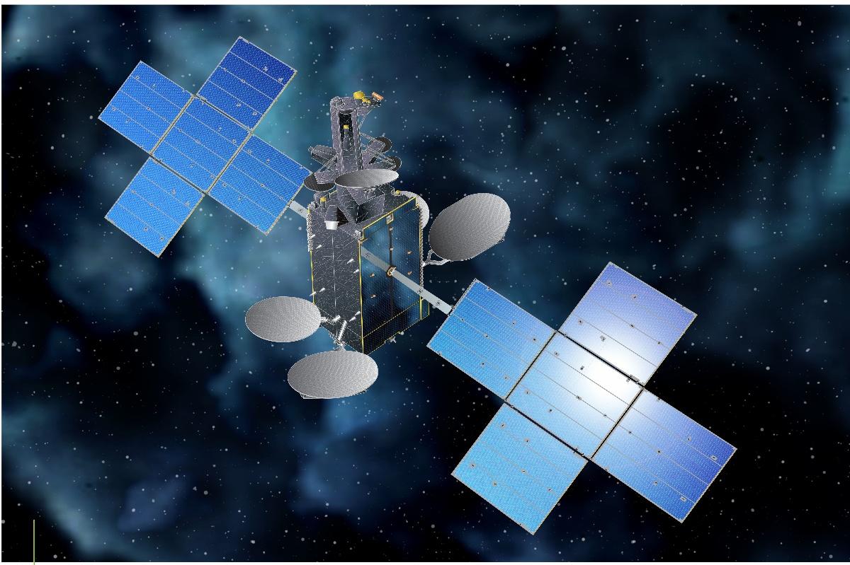 Artist's rendering of Hispasat 30 W-6 in orbit. Credit Hispasat