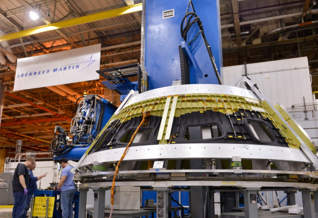 Constructing the crewed Orion - EM-2 spacecraft deep into