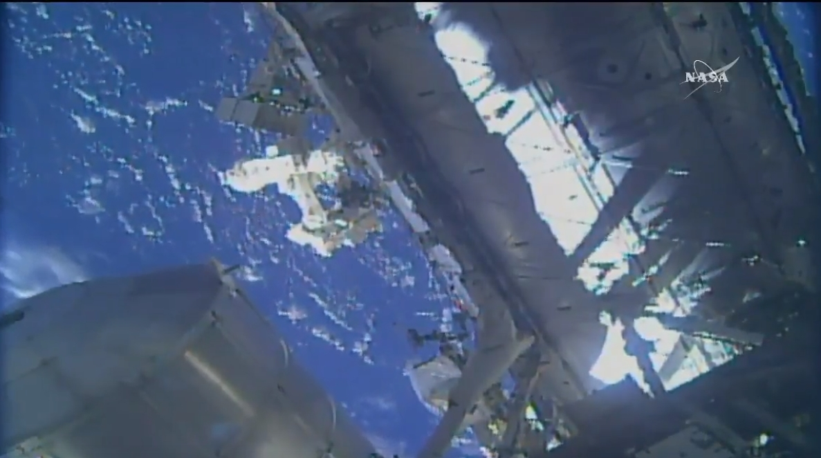Watch Astronauts Walk Outside International Space Station