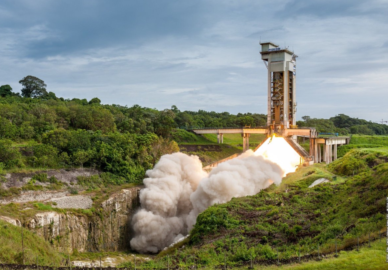 Static Fire test for Europe's P120C rocket motor
