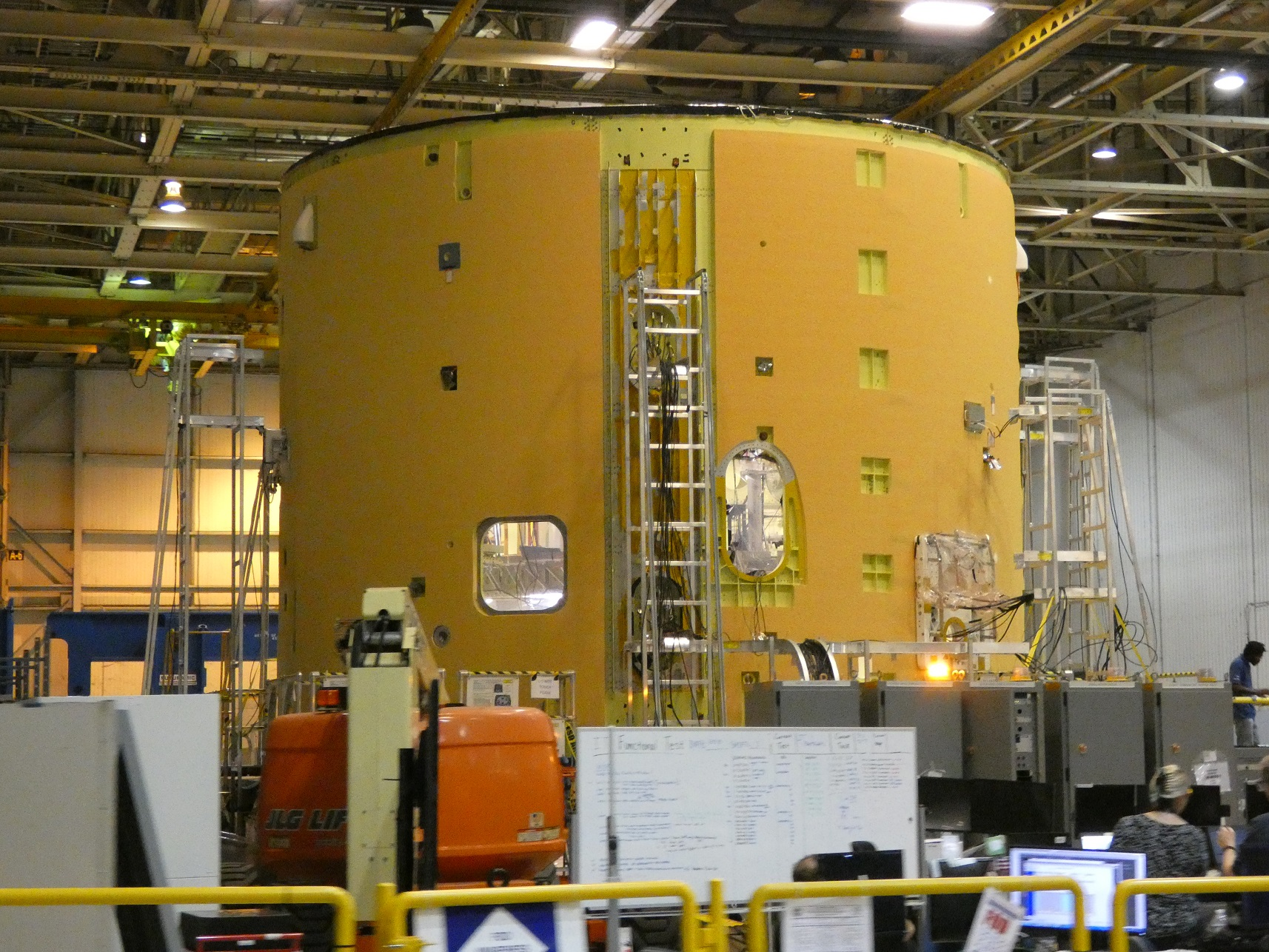 Boeing Nasa Managing Sls Core Stage Hardware Traffic Ahead Of First Wire Harness Z Side The Cs 1 Intertank At Maf August 13 Credit Philip Sloss For Nsf L2