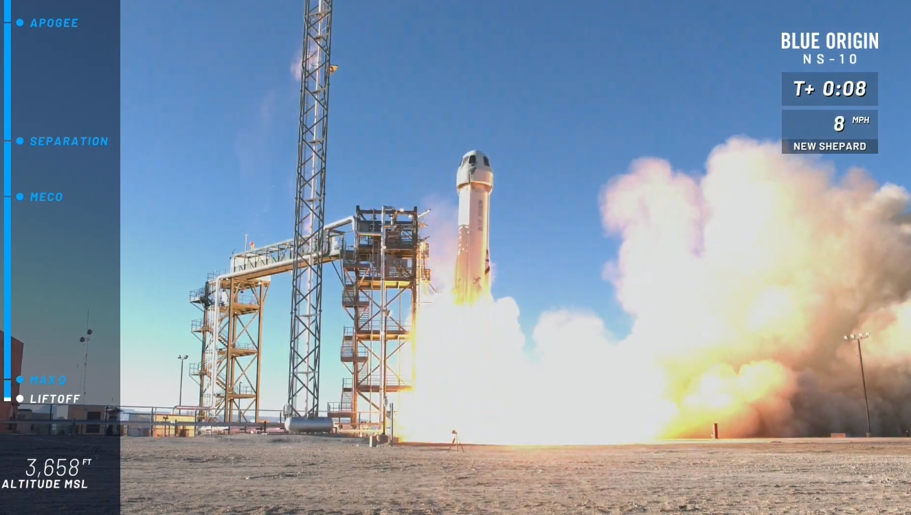 Blue Origin Conducts New Shepards 10th Test Flight