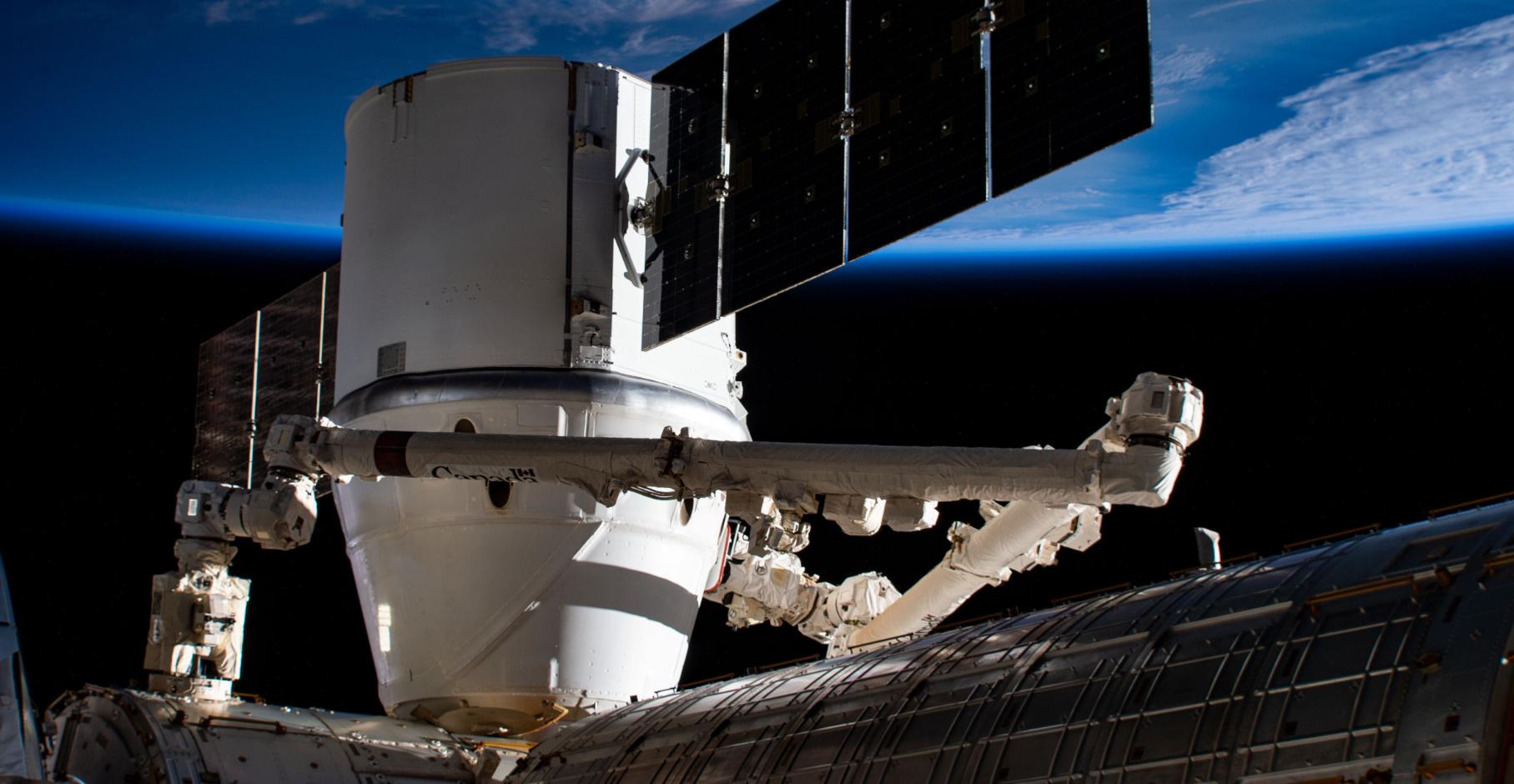 CRS-17 Dragon on the ISS – via NASA
