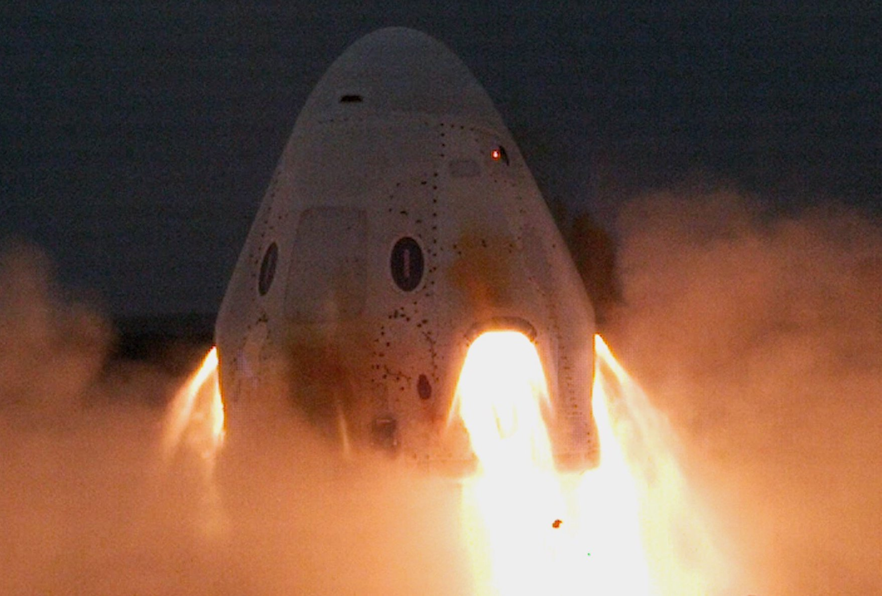 SpaceX safely and successfully completed tests of the Crew Dragon engine