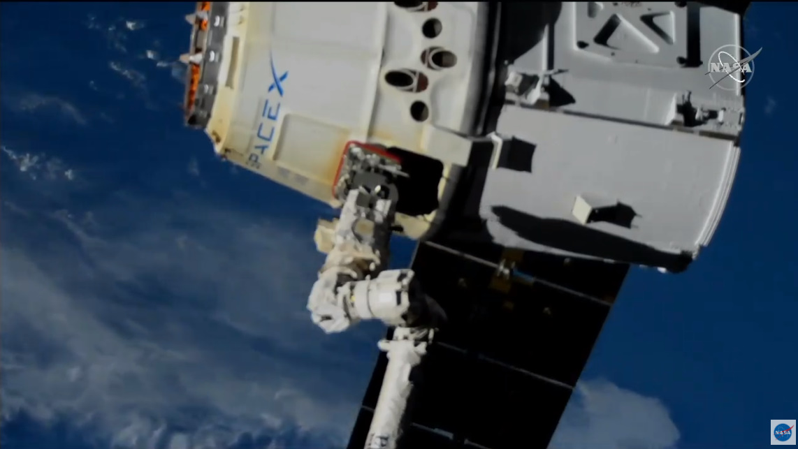 SpaceX Dragon Cargo Craft Released From ISS