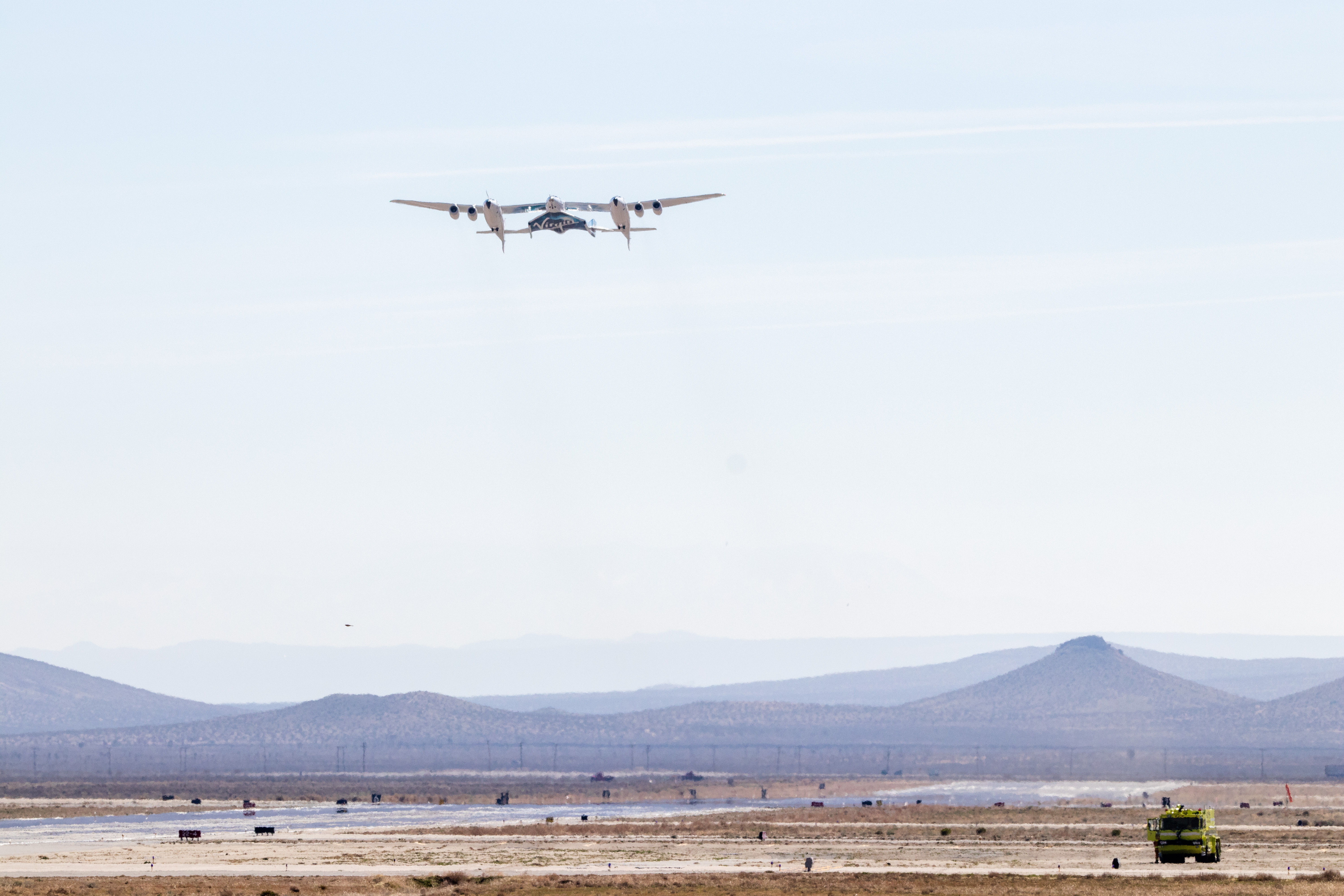VSS Unity Arrives at Spaceport America for Commercial Operations