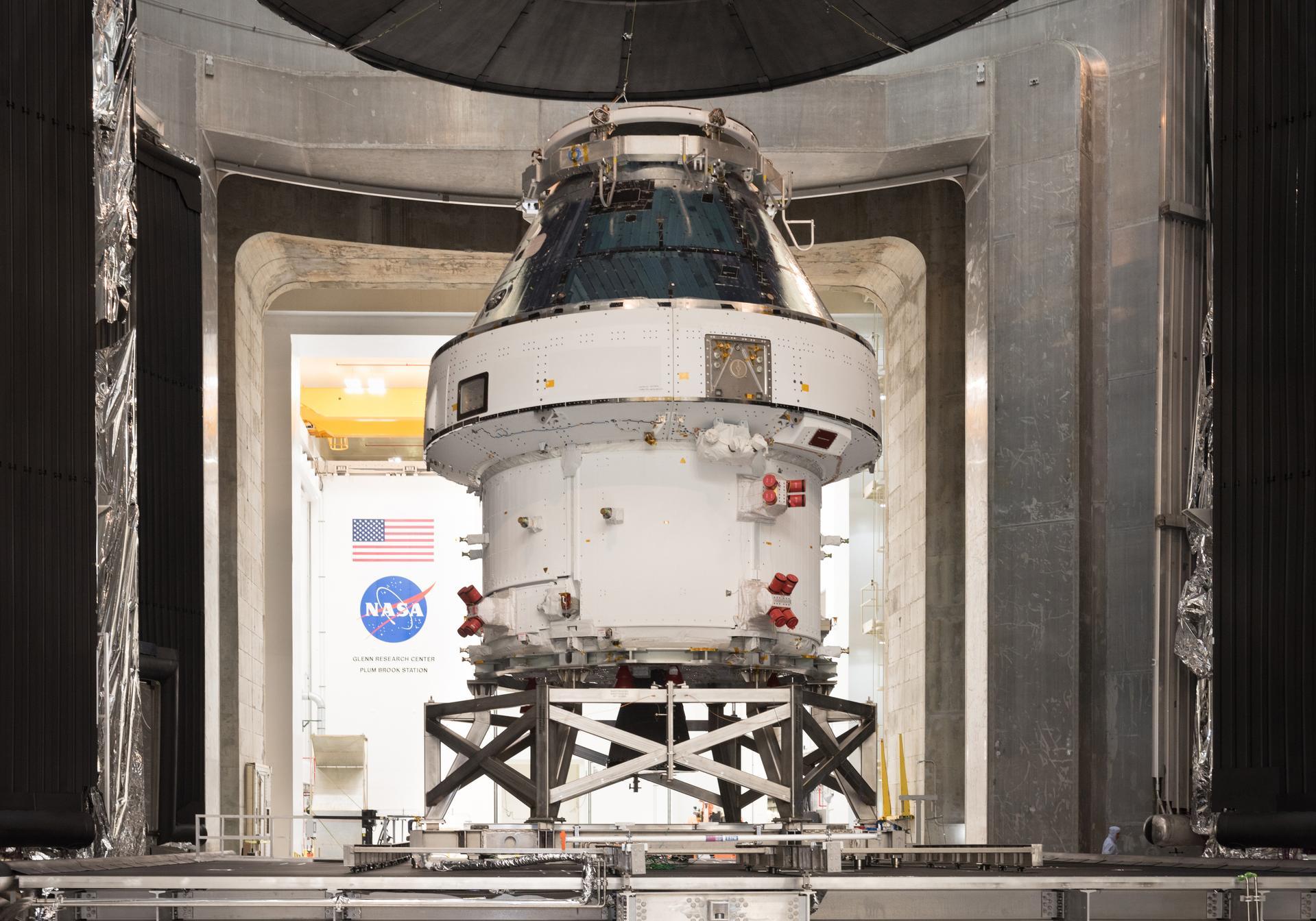 Artemis 1 Orion returns to KSC after Plum Brook testing