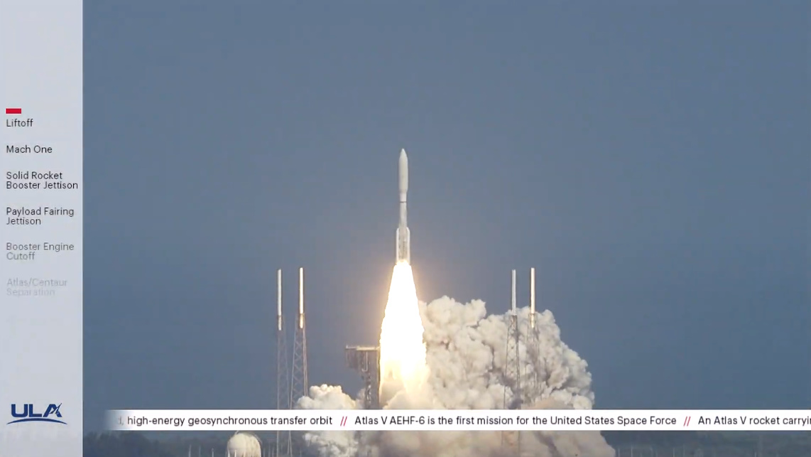 Atlas V launches Space Force's first mission with AEHF-6