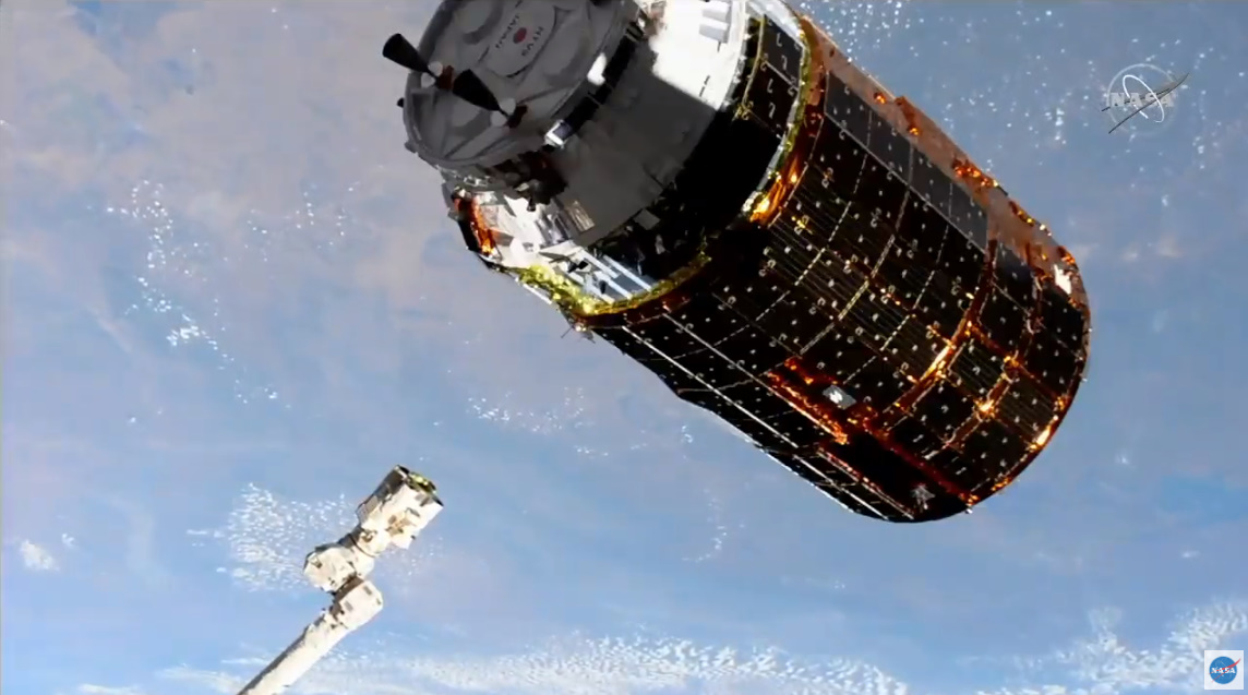HTV-9 arrives at ISS on final mission