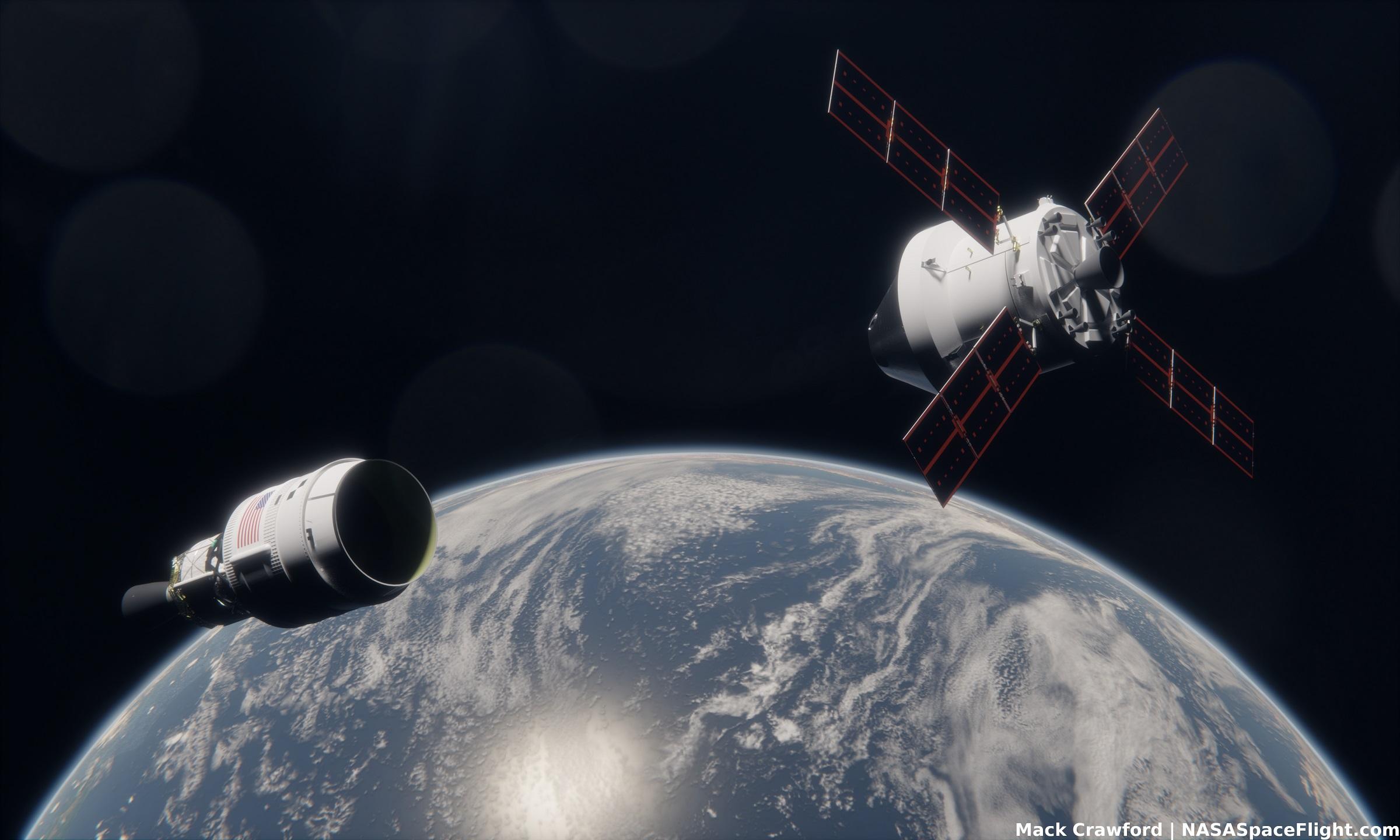 NASA studying practice rendezvous options for Artemis 2 Orion - NASASpaceFlight.com